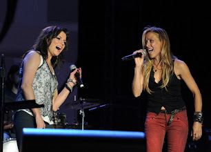 Photo: INDIO, CA - APRIL 29:  Musicians Martina McBride (L) and Sheryl Crow perform onstage during the Stagecoach Country Music Festival held at the Empire Polo Field on April 29, 2012 in Indio, California.  (Photo by Kevin Winter/Getty Images for Stagecoach)