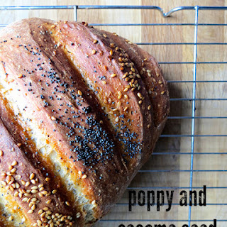 Poppy and Sesame Seed Bloomer Bread.
