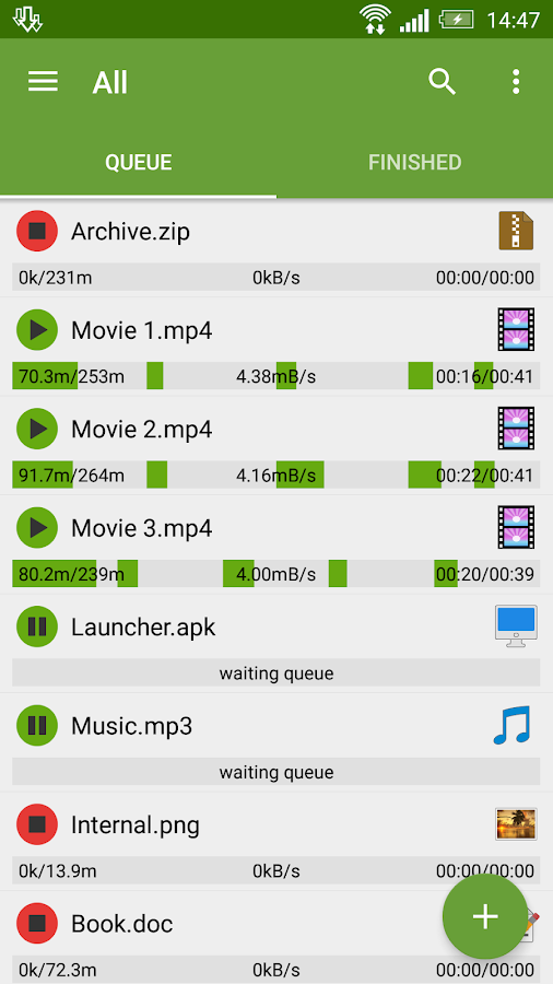 Advanced Download Manager- หน้าจอ