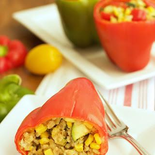 Garden Stuffed Sweet Peppers {Recipe ReDux}