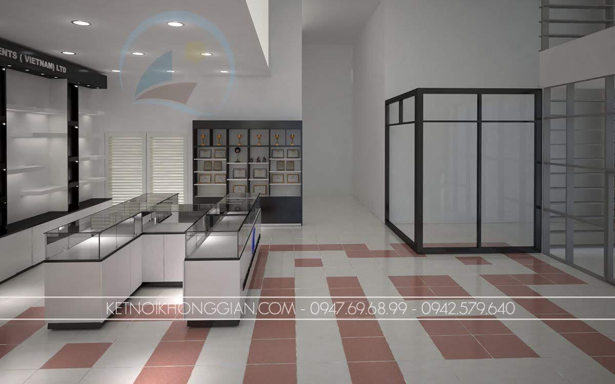 thiết kế showroom thiết bị điện SEI 4
