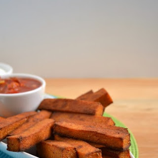 Baked Chili Cheese Polenta Fries.