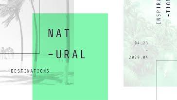Natural Destinations - Facebook template