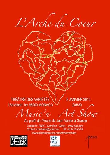 Soirée caritative L'Arche du coeur à Monaco 2015 au profit de L'Arche à Grasse