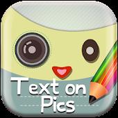 Kawaii Text on Pics Editor App