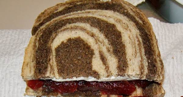 Marble Rye Bread Cream Cheese Cranberry Sauce Sandwich