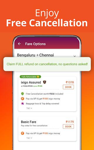 Cheap Flights, Hotel & Bus Booking App - ixigo screenshot 1