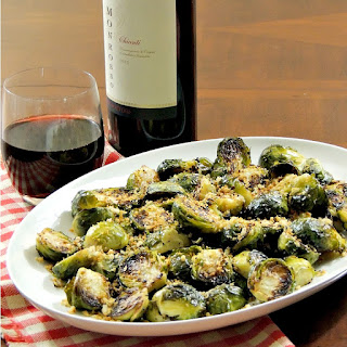 Roasted Brussels Sprouts with Garlic Herb Bread Crumbs