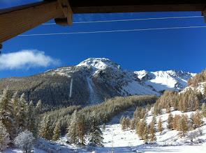 Photo: Appartement 1 - Vue depuis le séjour (pistes de ski de fond et de raquettes)