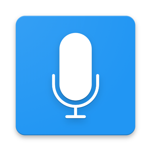 Material Simple Sound Recorder - Blue