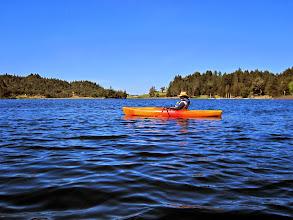 Photo: Linh kayaking