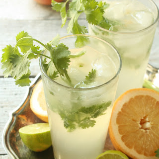 Cilantro Grapefruit Gin and Tonic