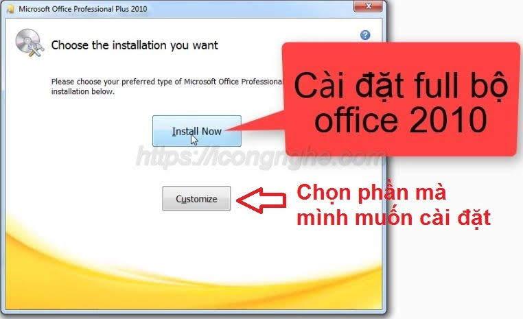 Tải và Cài Office 2010 Full Crack