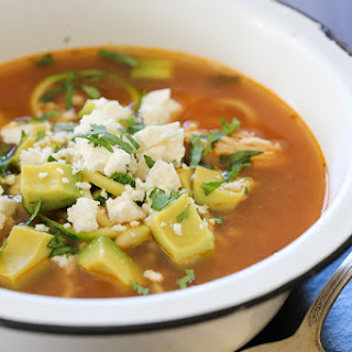 """Chipotle Chicken Zucchini """"Fideo"""" Soup (Slow Cooker or Instant Pot)."""