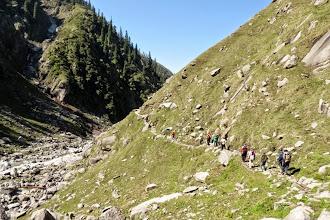 Photo: trek towards  camp 2