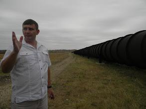 Photo: А в этих трубах - Правоегорлыкский обводнительно-оросительный канал. Введён в строй в конце 1950-х годов