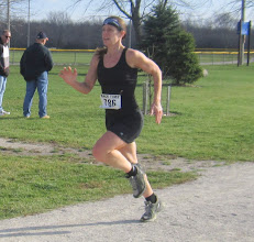 Photo: # 786 running hard to the finish line, perfect form young lady