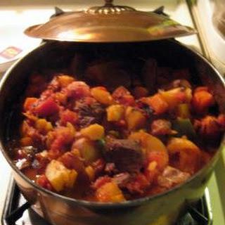 Savory winter Beef Stew.
