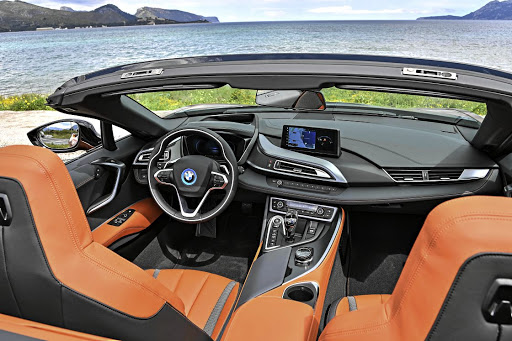 The interior has BMW hallmarks but in a unique way.