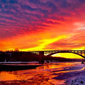 Fire and Ice by Jeremy Jordan - Landscapes Sunsets & Sunrises