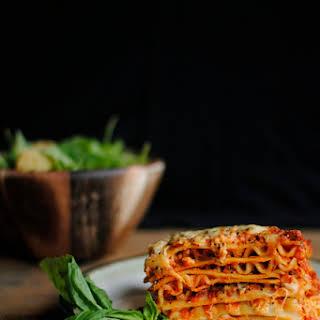 Italian Sausage Lasagne.