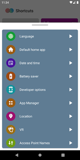 Shortcuts screenshot 4