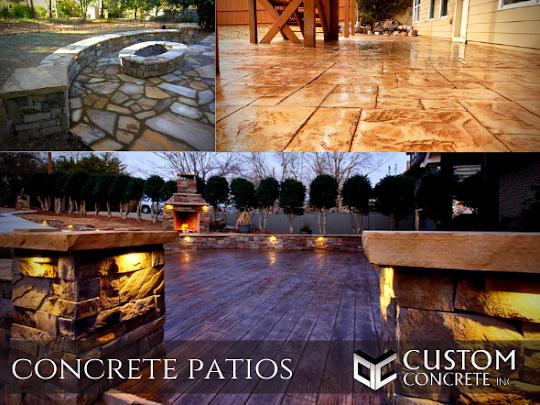 stamped concrete patio in Atlanta