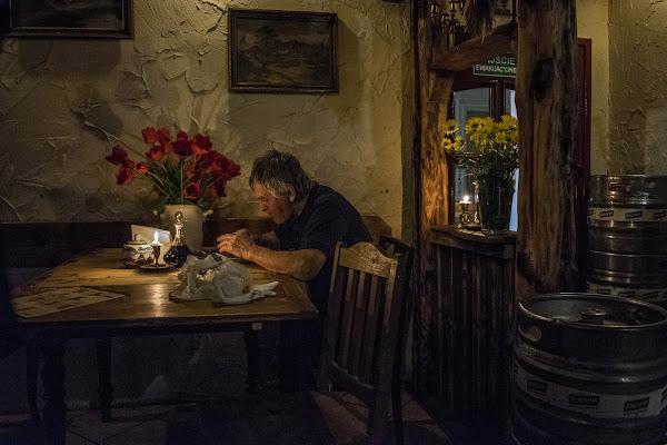 """Old Man - """"Il Mangiatore di Fagioli"""" di A. Carracci di Giuseppe Barile"""