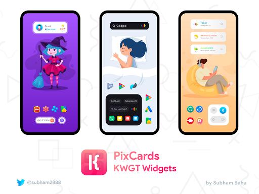 PixCards KWGT - Modern Card Style Widgets screenshot 2