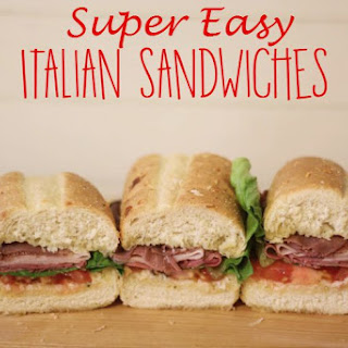 Super Easy Italian Sandwich.