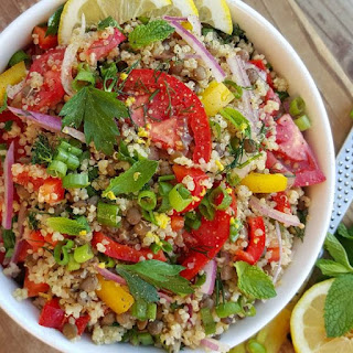 Fresh herb infused Quinoa Salad