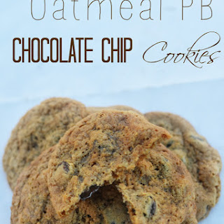 Oatmeal PB Chocolate Chip Cookies