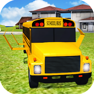 Flying School Bus simulator for PC and MAC
