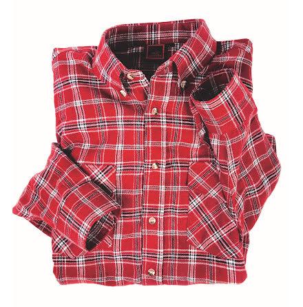 Arbetsskjorta röd Strl S 100% Bomull