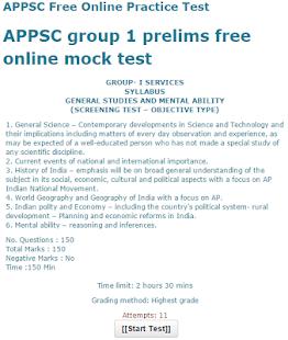 APPSC Online Practice Test - náhled