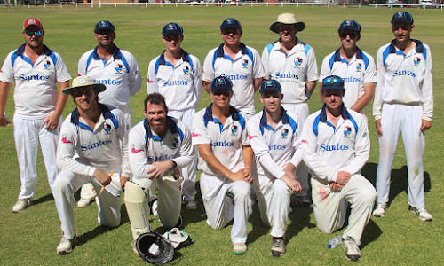 The Pink Slugs First XI side that downed Tamworth in round three of the 2018-19 War Vets Cup season at Collins Park on Sunday - back, Cody Kember, Chris Sargent, Hamish Duncan, Luke Meppem, Tom Craig, Nick Smart, Dylan Smith, front, Daniel Kahl, Lachlan Cameron (c), Ryan O'Neill, Jake Brayshaw and Nathan Trindall.