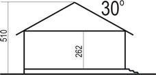 Domek Miodowy szkielet drewniany 003ES - Przekrój