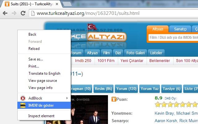 TurkceAltyazi.Org - Sağ-Tık IMDB'de Göster