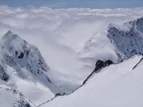 Photo: Ski Touring high above the clouds