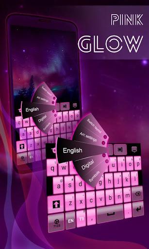 ピンクグローキーボード