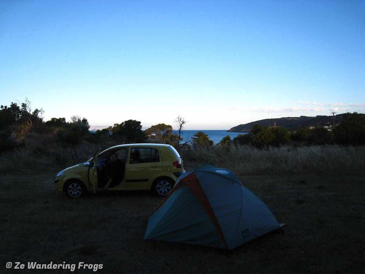 Our camp at Penneshaw