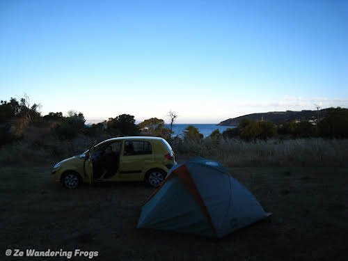 Our campsite at Penneshaw