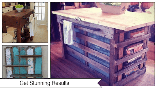 Rustic DIY pallet Kitchen Ideas - náhled