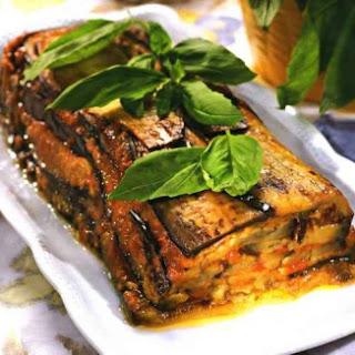 Tomatoes Cake With Eggplant