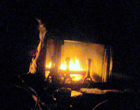 Photo: and a warm fire to end the day.