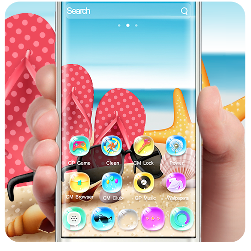 Summer Holidays Colorful Bling Theme (app)