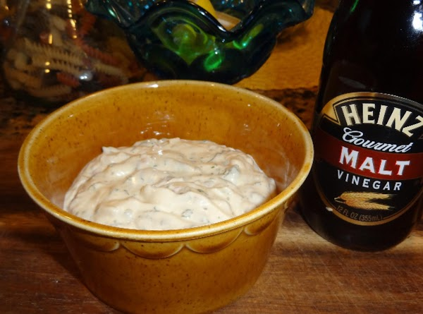 Serve with the homemade tartar sauce recipe above. Sprinkle the fish with malt vinegar....