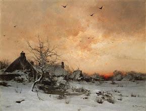 "Photo: Léon-Germain Pelouse, ""Gennaio: Cernay, vicino a Rambouillet"" (1887)"
