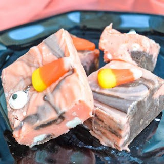 Halloween Swirl Fudge