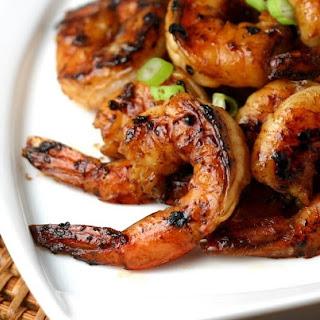 Asian BBQ Shrimp with Asian Slaw.